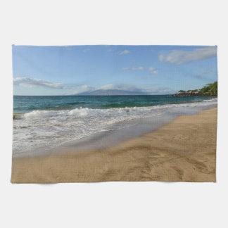 マウイハワイのマウイハワイの熱帯ビーチ キッチンタオル