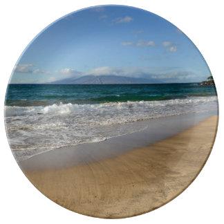 マウイハワイの熱帯ビーチ 磁器プレート