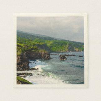 マウイハワイの熱帯崖 スタンダードカクテルナプキン
