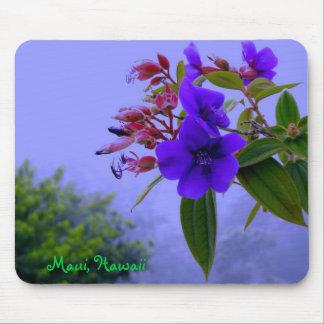 マウイハワイの青いハイビスカスの熱帯花 マウスパッド