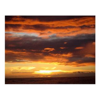 マウイハワイのLahainaの日没 ポストカード