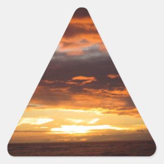 マウイハワイのLahainaの日没 三角形シール
