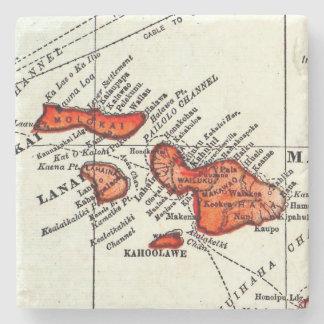 マウイ、Lanaiのモロカイ島のハワイ諸島の石 ストーンコースター