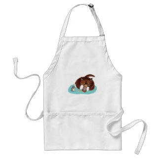 マウスおよび子ネコのためのポップコーンのバッグ スタンダードエプロン