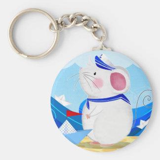 マウスの船員ボタンのkeychain キーホルダー