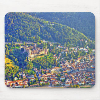 マウスパッドのハイデルベルクの城の空中写真 マウスパッド
