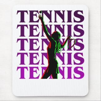 マウスパッドの女性のテニス1紫色ライトか暗闇 マウスパッド