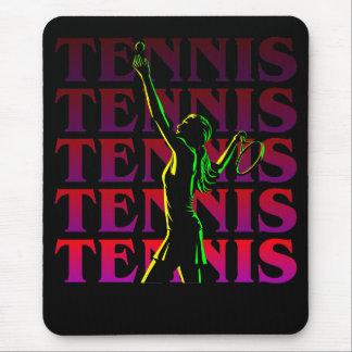 マウスパッドの女性のテニス1 RP暗闇かライト マウスパッド