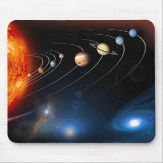 マウスパッドを越える太陽系および マウスパッド