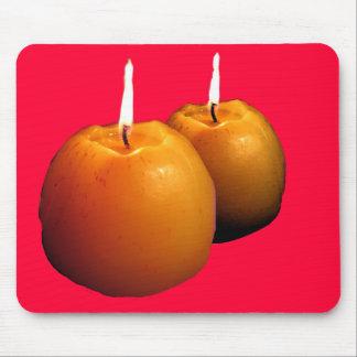 マウスパッド2本の蝋燭の マウスパッド