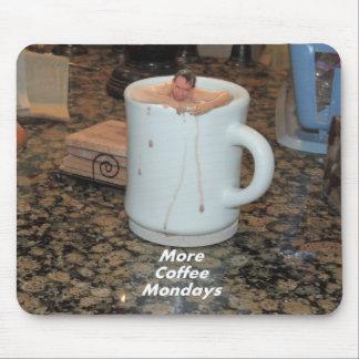 マウスパッド-より多くのコーヒー月曜日 マウスパッド