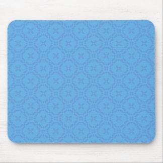 マウスパッド: ウェールズのタペストリーパターン、明るい青 マウスパッド