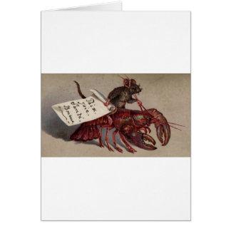 マウス及び彼のロブスター カード