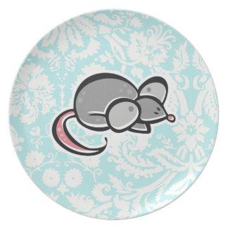 マウス; かわいい プレート