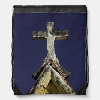 マウソレウム、共同墓地のコロン頂上古い十字 ナップサック