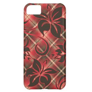 マウナロア山ハワイのハイビスカスの格子縞 iPhone5Cケース