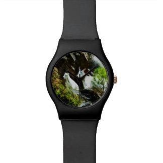 マウンテンゴートおよびベビーの抽象芸術 腕時計