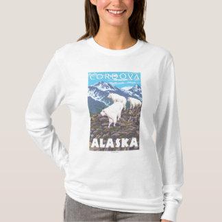 マウンテンゴート場面- Cordova、アラスカ Tシャツ