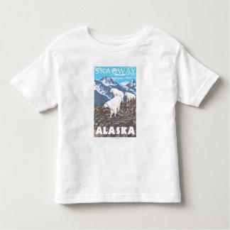 マウンテンゴート場面- Skagway、アラスカ トドラーTシャツ