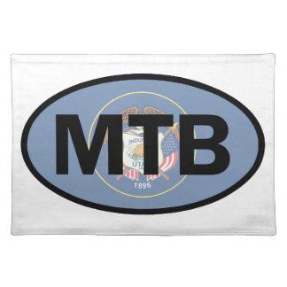 マウンテンバイクのユタの旗 ランチョンマット