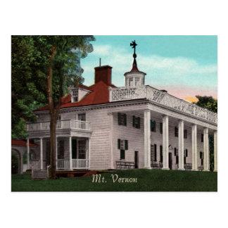 マウントバーノンのヴィンテージの郵便はがき ポストカード