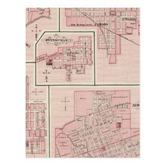 マウントバーノン、PatokaのPosey郡の計画 ポストカード