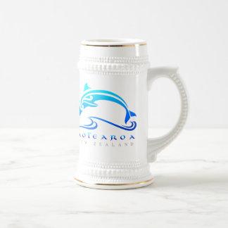 マオリのイルカNZの白 ビールジョッキ