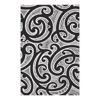 マオリの種族の入れ墨パターン 便箋