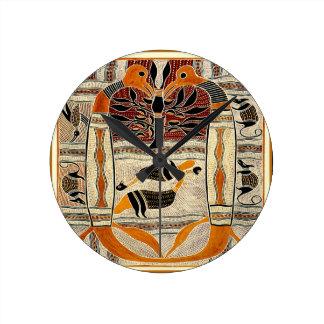 マオリの種族動物精神 ラウンド壁時計