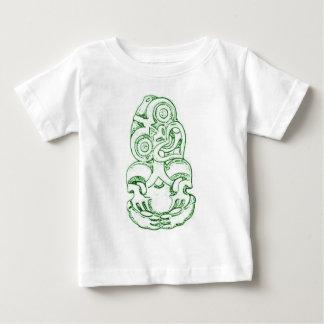 マオリのHei-Tikiのスケッチの乳児のTシャツ ベビーTシャツ
