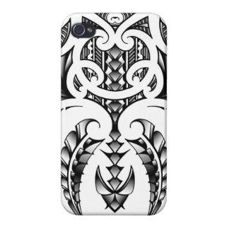 マオリ及びSamoanスタイルの種族の入れ墨のデザイン iPhone 4/4S ケース