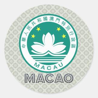 マカウの紋章付き外衣 ラウンドシール