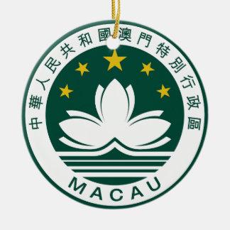 マカウ(中国)の国章 セラミックオーナメント