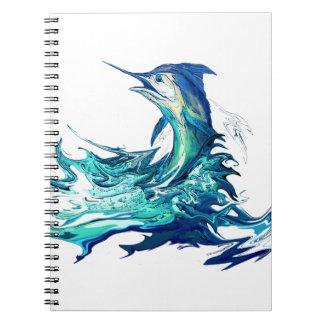 マカジキのスポーツの魚釣り ノートブック