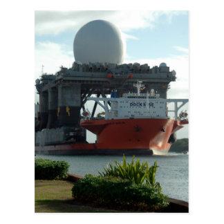 マカジキのレーダーの船 ポストカード