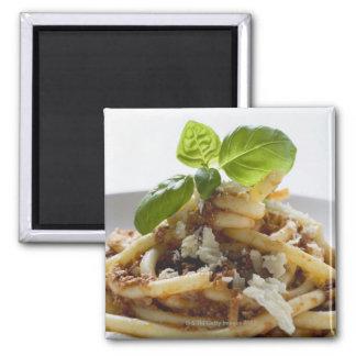 マカロニはとのソースおよびチーズを細かく切り刻にます マグネット