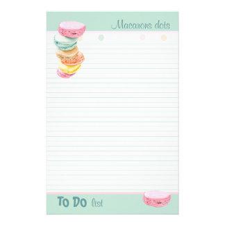 マカロンの点はしなければならないことのリストを並べました 便箋