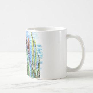 マガモおよびネコヤナギ-水彩画の鉛筆 コーヒーマグカップ
