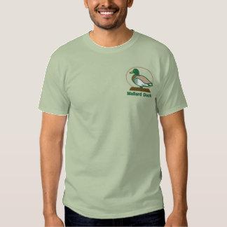 マガモのアヒルによって刺繍されるTシャツ 刺繍入りTシャツ