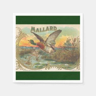 マガモのアヒルのヴィンテージの広告の紙ナプキン スタンダードカクテルナプキン