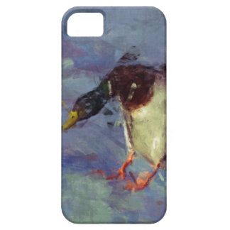 マガモのアヒル水家禽の印象派の絵画 iPhone SE/5/5s ケース