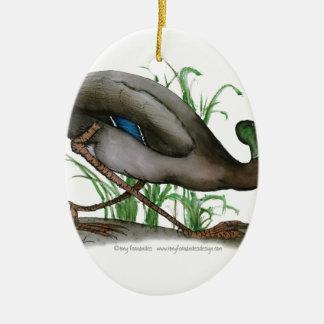 マガモのアヒル-野生の鳥、贅沢なfernandes セラミックオーナメント