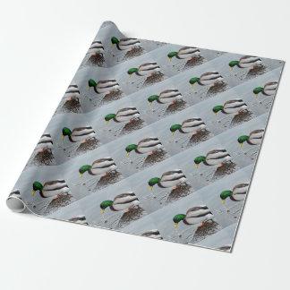 マガモの飲む包装紙、バッグ及びラベル ラッピングペーパー