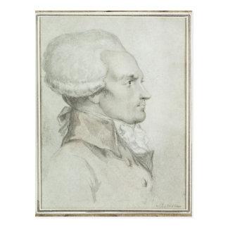 マキシミリアンde Robespierreのポートレート ポストカード