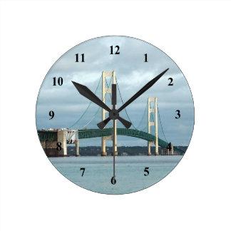 マキナック橋の時計 ラウンド壁時計