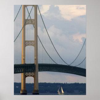 マキナック橋、ミシガン州、米国 ポスター