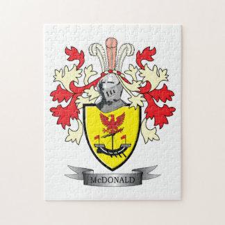 マクドナルドの家紋の紋章付き外衣 ジグソーパズル