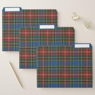 マクベスの古代元のスコットランドのタータンチェック ファイルフォルダー
