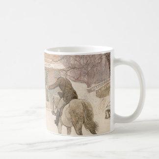 マクベス著郵便集配人に挨拶するヴィンテージのビクトリアンな芸術 コーヒーマグカップ
