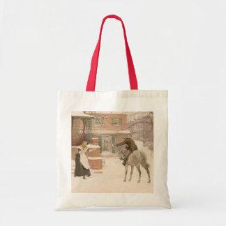 マクベス著郵便集配人に挨拶するヴィンテージのビクトリアンな芸術 トートバッグ